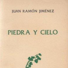 Libros de segunda mano: JUAN RAMÓN JIMÉNEZ / PIEDRA Y CIELO . EDICIÓN LIMITADA 280 EJEMPLARES. ED. TAURUS , 1971.. Lote 15171879