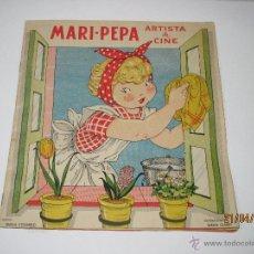 Libros de segunda mano: MARI PEPA ARTISTA DE CINE TEXTO DE EMILIA COTARELO E ILUSTRACIONES DE MARÍA CLARET- AÑO 1953.. Lote 48970369