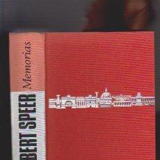 Libros de segunda mano: ALBERT SPEER - MEMORIAS - PLAZA & JANÉS 1972. Lote 48999128