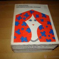 Libros de segunda mano: CURSO CEAC - DECORACIÓN DEL HOGAR - AÑO 1969. Lote 49001835