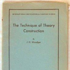 Libros de segunda mano: THE TECHNIQUE OF THEORY CONSTRUCTION - J. H. WOODGER - THE UNIVERSITY OF CHICAGO PRESS 1956. Lote 49009672