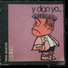 Libros de segunda mano: Y DIGO YO… MINIMAFALDA Nº2 - QUINO - PARA ADULTOS - MAFALDA. Lote 49065447