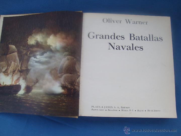 Libros de segunda mano: GRANDES BATALLAS NAVALES - OLIVER WARNER -PLAZA 6& JANES 1964 - Foto 2 - 49143404