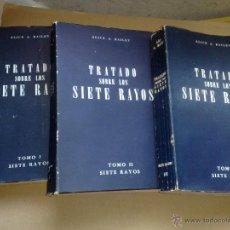 Libros de segunda mano: TRATADO SOBRE LOS 7 RAYOS (TOMOS I,II Y II) - ALICE A. BAILEY (TEOSOFÍA) DIFÍCIL, . Lote 117833347