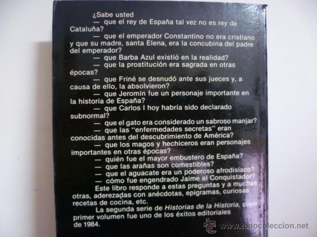 Libros de segunda mano: Historias de la historia - Fisas, Carlos - Foto 3 - 49203599