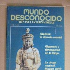 Libros de segunda mano: MUNDO DESCONOCIDO Nº 68 - GIGANTES Y DINOSAURIOS EN LA RIOJA - MOZART. Lote 49309280