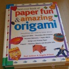 Libros de segunda mano: BEST EVER BOOK OF PAPER FUN & AMAZING ORIGAMI (TAPA DURA) BUEN ESTADO. Lote 49341816