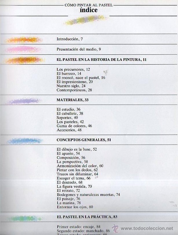 Libros de segunda mano: Cómo pintar al pastel. S.G. Olmedo. Parramón Ediciones, 1999 - Foto 2 - 49445409