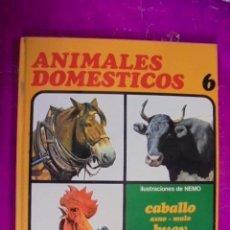 Libros de segunda mano: ANIMALES DOMESTICOS Nº 6 - AFHA 1975 - CABALLO / BUEY / GALLO / ILUSTRACIONES DE NEMO. Lote 49469123