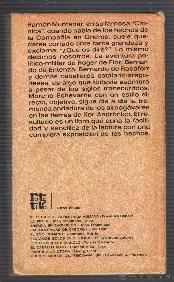Libros de segunda mano: LOS AMOGÁRAVARES. POR JOSE M. MORENO ECHEVARRIA. PLAZA & JANES, S.A. 1972 - Foto 2 - 49629251