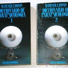 Libros de segunda mano: DICCIONARIO DE PARAPSICOLOGÍA 2T POR WERNER F. BONIN DE ALIANZA EDITORIAL EN MADRID 1983. Lote 49713142