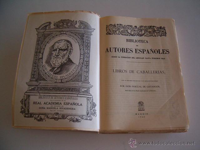 Libros de segunda mano: PASCUAL DE GAYANGOS (DIR.). Libros de Caballerías I. RM69646. - Foto 2 - 49787354