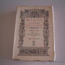 Libros de segunda mano: FRANCISCO YNDURAÍN (EDIT.). OBRAS DE MIGUEL DE CERVANTES SAAVEDRA. II. OBRAS DRAMÁTICAS. RM69648.. Lote 49787537