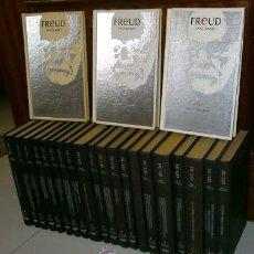 Libros de segunda mano: OBRAS COMPLETAS Y EPISTOLARIOS 23T POR SIGMUND FREUD DE ED. ORBIS EN BARCELONA 1988. Lote 49838820