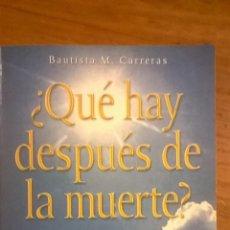 Libros de segunda mano: ¿QUE HAY DESPUES D LA MUERTE?, POR BAUTISTA CARRERAS - GRULLA - ARGENTINA - 2003 - RARO. Lote 49864653