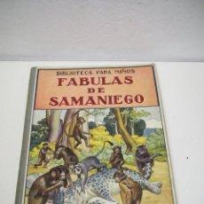 Libros de segunda mano: ANTIGUO LIBRO FABULAS DE SAMANIEGO. BIBLIOTECA PARA NIÑOS - EDIT. RAMON SOPENA - AÑO 1940. Lote 49891556
