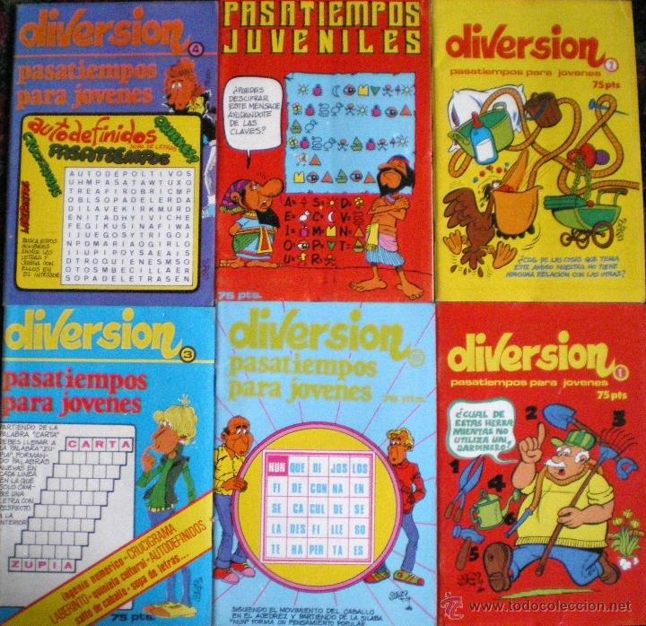 DIVERSIÓN Y PASATIEMPOS PARA JÓVENES 1985 NUEVOS LOTE 6 FOLLETOS (Libros de Segunda Mano - Literatura Infantil y Juvenil - Otros)