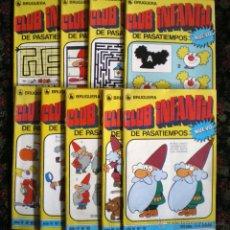 Libros de segunda mano: CLUB INFANTIL DE PASATIEMPOS BRUGUERA 1986 NUEVOS 10 FOLLETOS-78-79-80-81-82-83-84-85-86-87. Lote 130235552