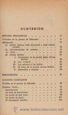 Libros de segunda mano: CUENTOS COMPLETOS - NICOLAI GOGOL. LIBRO CLÁSICO. EDITORIAL BRUGUERA, 1970 - Foto 2 - 49940040