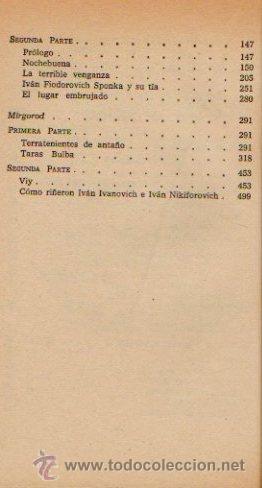 Libros de segunda mano: CUENTOS COMPLETOS - NICOLAI GOGOL. LIBRO CLÁSICO. EDITORIAL BRUGUERA, 1970 - Foto 3 - 49940040