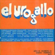 Libros de segunda mano: REVISTA LITERARIA EL UROGALLO Nº 13 - ENERO FEBRERO 1972. Lote 49991273