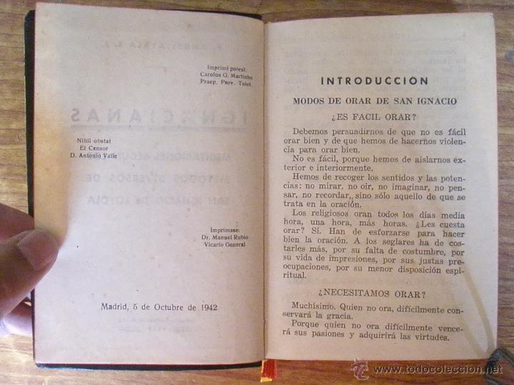 Libros de segunda mano: LIBRO IGNACIANAS 1942 TAPAS DE PIEL P.ANGEL AYALA - Foto 6 - 50040350
