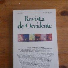 Livres d'occasion: REVISTA DE OCCIDENTE. FEBRERO 1992. Nº 129. NUEVE ARTISTAS DE HOY BASSO,BADIOLA,MUÑOZ,CRISTINA IGLES. Lote 50050597