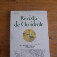 Libros de segunda mano: REVISTA DE OCCIDENTE. OCTUBRE 1993. Nº 149. ECOLOGIA, RECURSOS NATURALES Y OBRA PUBLICA. Lote 50050686