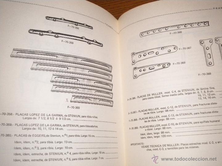 Libros de segunda mano: Catalogo de instrumental y material para traumatologia y cirugia ortopedica / Manuel Fraga Mera. - Foto 4 - 50090240