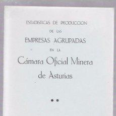 Libros de segunda mano: ESTADÍSTICAS DE PRODUCCIÓN DE LAS EMPRESAS AGRUPADAS EN LA CÁMARA OFICIAL MINERA DE ASTURIAS. 1985. Lote 50097852