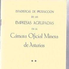 Libros de segunda mano: ESTADÍSTICAS DE PRODUCCIÓN DE LAS EMPRESAS AGRUPADAS EN LA CÁMARA OFICIAL MINERA DE ASTURIAS. 1984. Lote 50097858