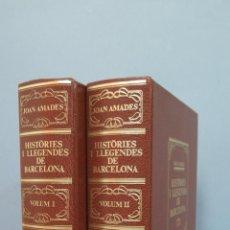 Libros de segunda mano: HISTÒRIES I LLEGENDES DE BARCELONA. 2 TOMOS. IUSTRADO CON DESPLEGABLES. Lote 50120329