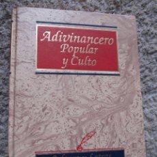 Libros de segunda mano: ADIVINANCERO POPULAR Y CULTO - JOSE L. GARFER - EDI EDIMAT -2000 305PAG 30CM + INFO. Lote 50152787