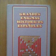 Libros de segunda mano: GRANDES ENIGMAS HISTORICOS ESPAÑOLES, EL TRIBUNAL DE LOS TUMULTOS / NATACHA MOLINA / AÑO 1978. Lote 50168602