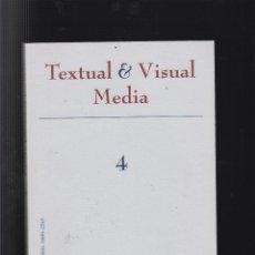 Libros de segunda mano: TEXTUAL & VISUAL MEDIA Nº 4 , REVISTA DE LA SOCIEDAD ESPAÑOLA DE PERIODISMO. Lote 50372273