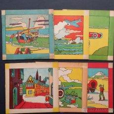 Libros de segunda mano: LOTE DE 6 ANTIGUOS CUADERNOS PARA PINTAR, COLOREAR. EDITORIAL CUBO. SIN PINTAR.. Lote 50500377