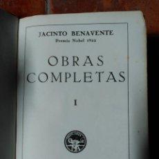 Libros de segunda mano: JACINTO BENAVENTE-OBRAS COMPLETAS-TOMO I- EDITOR M. AGUILAR 1940- 1ª EDIC. Lote 50527667