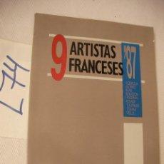 Libros de segunda mano: 9 ARTISTAS FRNACESES . Lote 50573589
