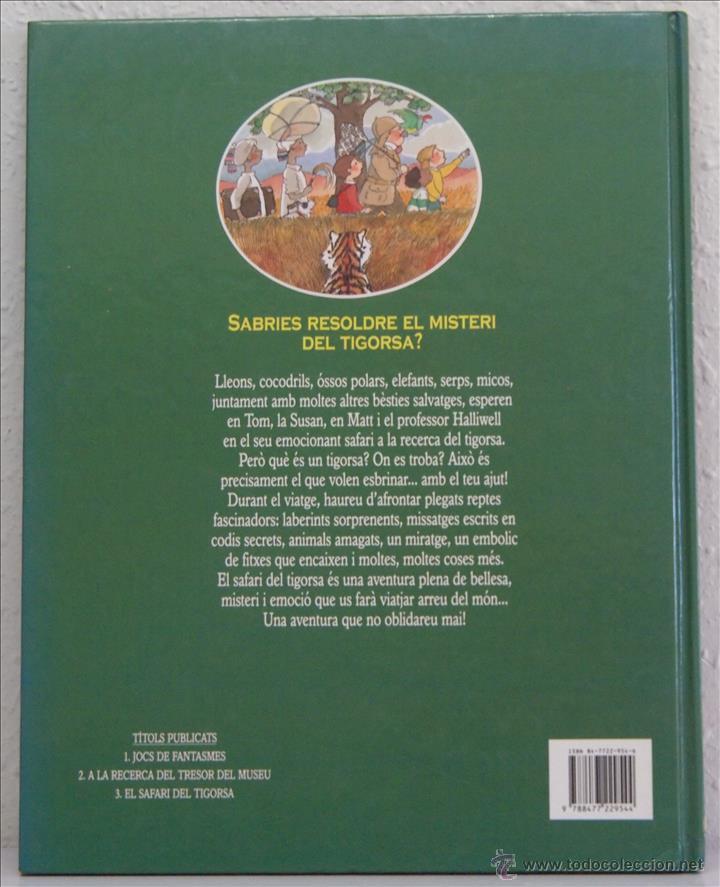 Libros de segunda mano: John Speirs, Superenigmas. El safari de Tigarsa. Editorial Timun Más, 1993. En catalán - Foto 2 - 50574285