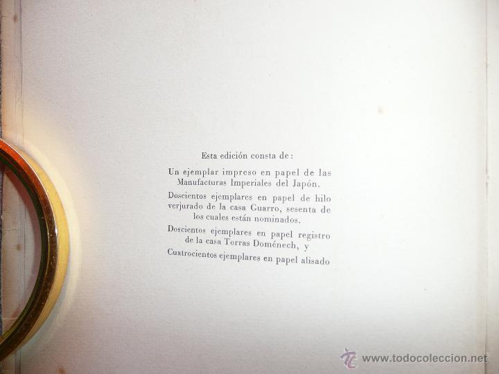 Libros de segunda mano: LA COLECCIÓN TEATRAL DE DON ARTURO SEDÓ, JOAQUIN MONTANER. SEIX Y BARRAL 1951. EDICIÓN DE 800 EJEMPL - Foto 12 - 50596637