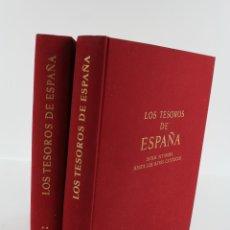 Libros de segunda mano: L-1181. LOS TESOROS DE ESPAÑA, JOSE MANUEL PILA ANDRADE, ALBERT SKIRA, ED. DESTINO,1967, 2 TOMOS. Lote 50645760