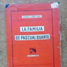 Libros de segunda mano: LA FAMILIA DE PASCUAL DUARTE (1955) / CAMILO JOSÉ CELA. DESTINO. ÁNCORA Y DELFÍN; 63.. Lote 50669068