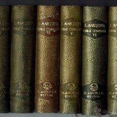 Libros de segunda mano: EDUARDO MARQUINA. OBRAS COMPLETAS. 8 TOMOS. EDITORIAL M. AGUILAR. AÑO 1944. (E.2.10). Lote 50760645