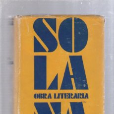 Libros de segunda mano: OBRA LITERARIA DE JOSE GUTIERREZ SOLANA. TAURUS, MADRID. 1961. LEER. Lote 50832606
