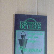 Libros de segunda mano: RADIESTESIA - EL PENDULO - TECNICAS - ADIVINACION. Lote 50876973