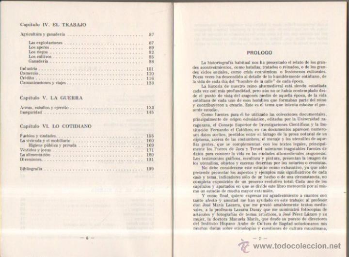 Libros de segunda mano: La vida cotidiana en Aragón durante la Edad Media. Manuel Gómez de Valenzuela. Librería General,1980 - Foto 3 - 50940938