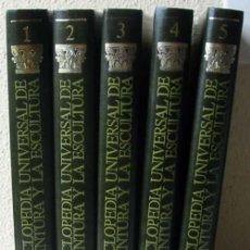 Libros de segunda mano: ENCICLOPEDIA UNIVERSAL DE LA PINTURA Y LA ESCULTURA - 5 TOMOS COMPLETA - SARPE 1982 - VER INDICES. Lote 50998199