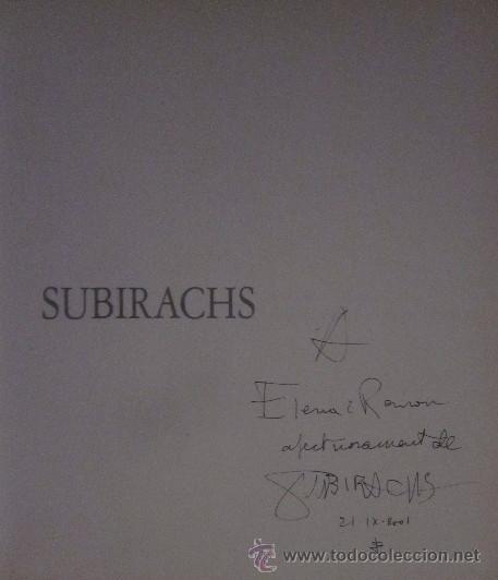 Libros de segunda mano: JOSEP MARIA SUBIRACHS - EJEMPLAR CON FIRMA Y DEDICATORIA DEL ARTISTA - Foto 2 - 105622176