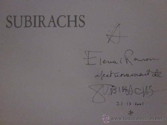 Libros de segunda mano: JOSEP MARIA SUBIRACHS - EJEMPLAR CON FIRMA Y DEDICATORIA DEL ARTISTA - Foto 3 - 105622176