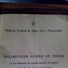 Libros de segunda mano: REGLAMENTO NACIONAL DE TRABAJO. Lote 51179637